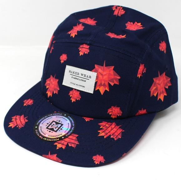 Maple Leaf 5 Panel Baseball Hat Cap Adjustable ebec6c462d5